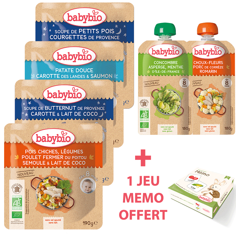 Babybio - Pack En Vadrouille 6-8 mois - Dès 6 mois