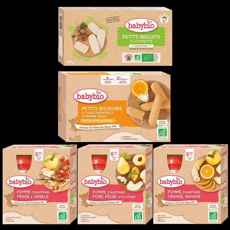 Babybio - Pack Goûter Gourmand - Nos packs bébé