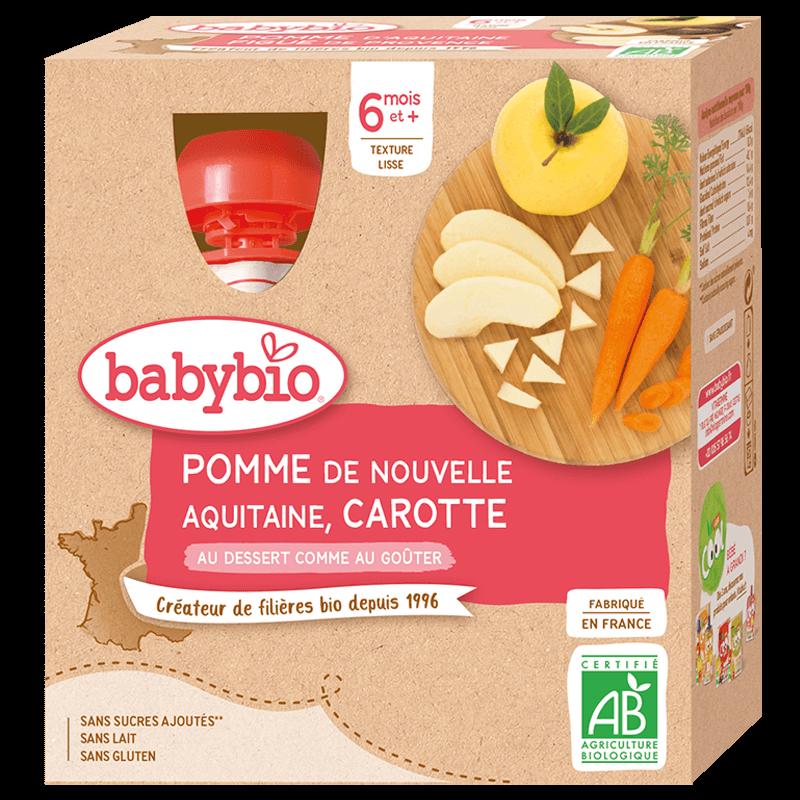 Babybio - Pomme d'Aquitaine Carotte - Dès 6 mois