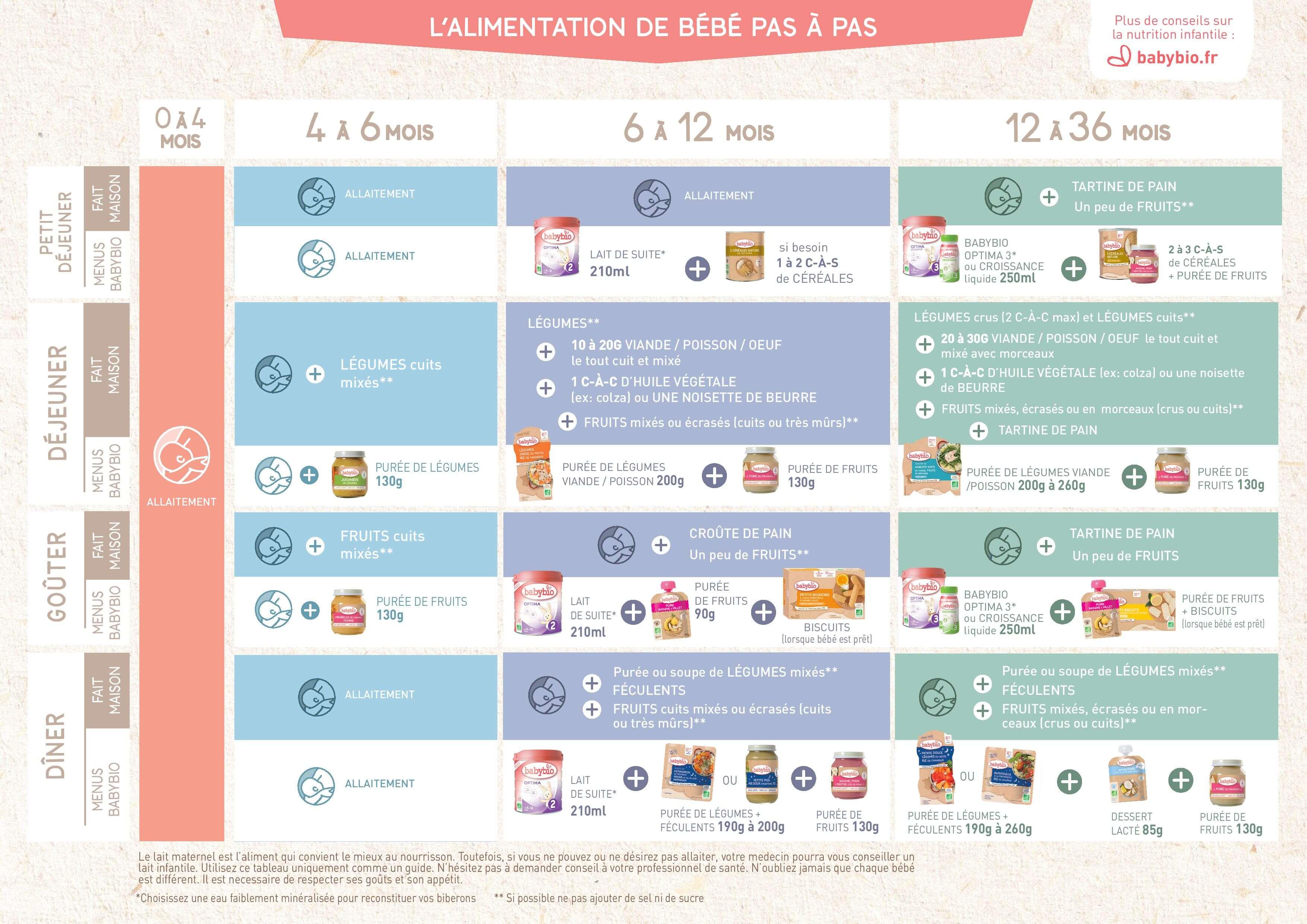 Guide De Diversification Alimentaire De Bebe Babybio