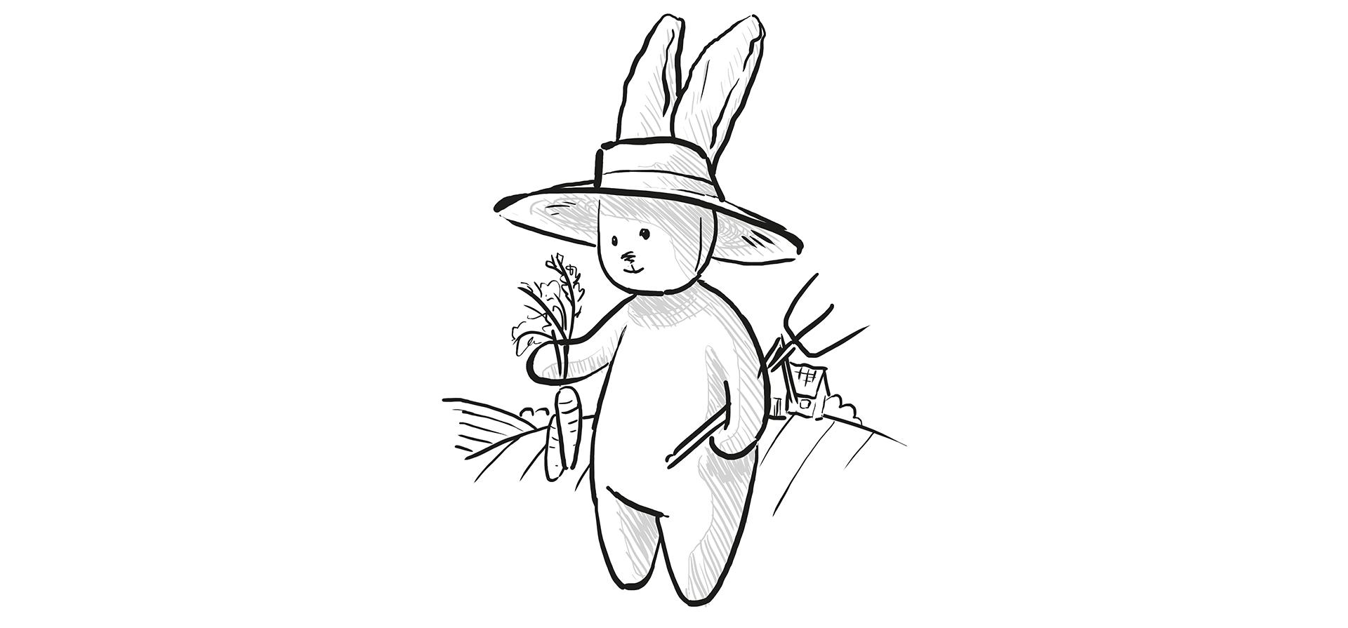 Le dessin doudou lapin à colorier