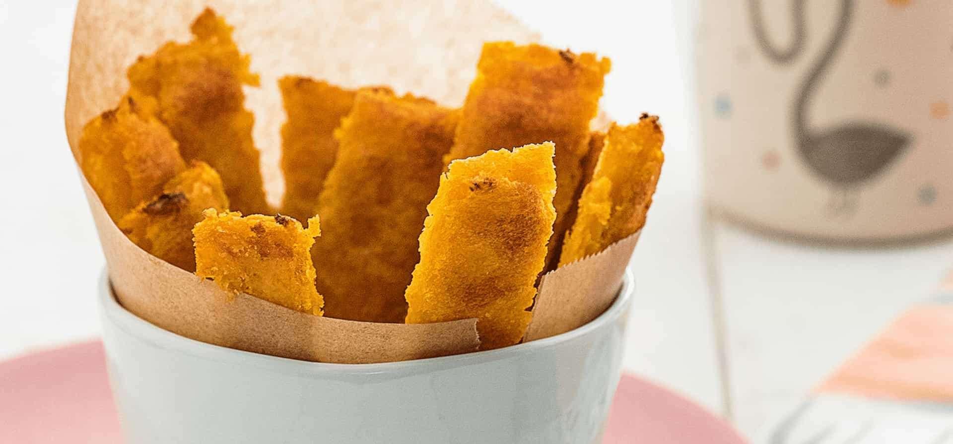 Recipe Polenta and sweet potato fries