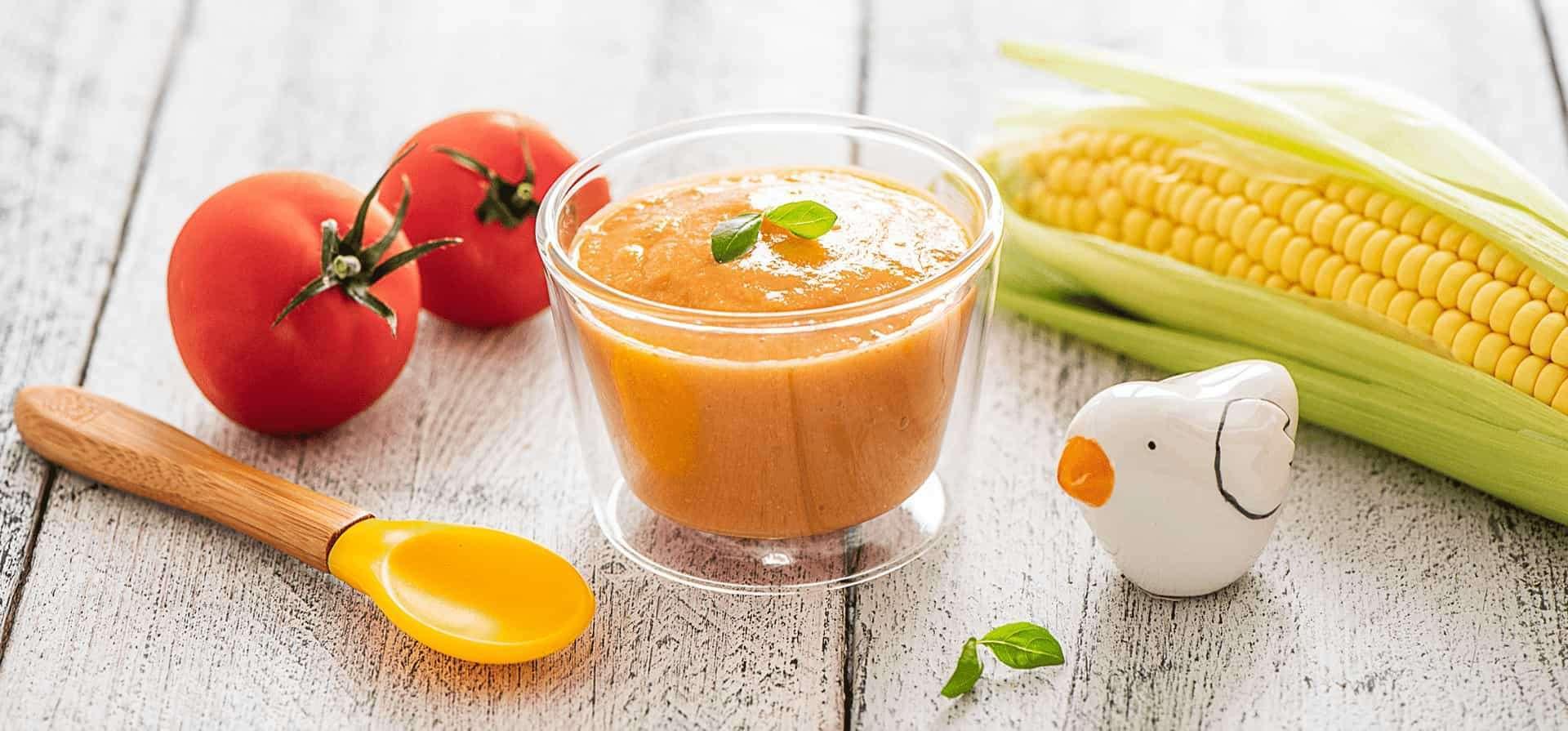 Recette Soupe froide à la Tomate et au Maïs doux d'Aquitaine