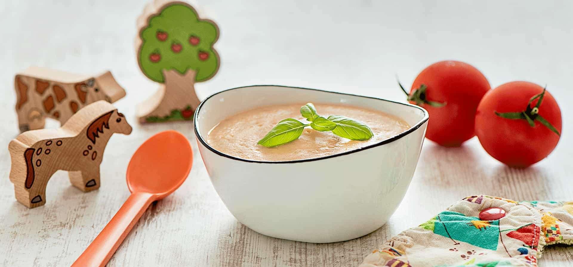 Recette Crème de Riz à la Tomate et au Basilic